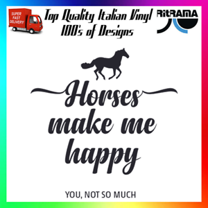 Horses Make Me Happy You Not So Much Decal Sticker Car Funny Cute Equestrian