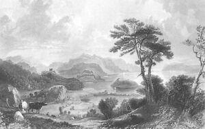 Scotland-Argyll-Lake-SEA-LOCH-LINNHE-Fort-William-1837-Art-Print-Engraving