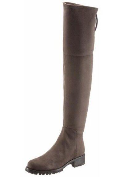 Stiefel,Overkneestiefel von Unisa aus Textil in Velourslederoptik,Gr.38,black