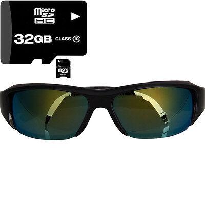 32G Menory Card + 720P HD Camcorder Sunglasses Camera DVR Eyewear Video Record