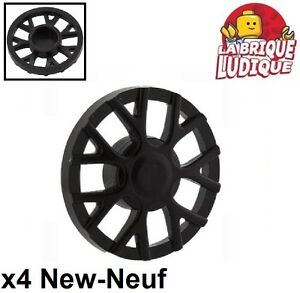 Lego Lego 4x roue jante wheel cover enjoliver T for 18976 noir/black 18979a NEUF Bouwspellen