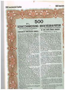 Republik-Osterreich-Wien-1926-500-franzoesische-Franken-issued-cancelled