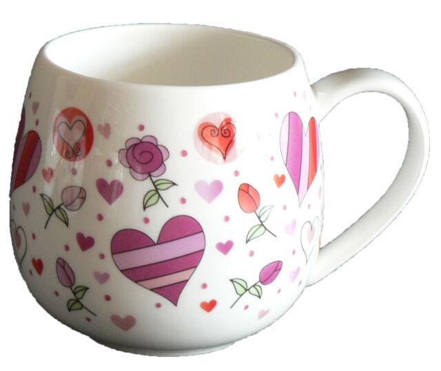 I Love Mum Mug Red Heart Fine Bone China Real Cup Hand Decorated UK