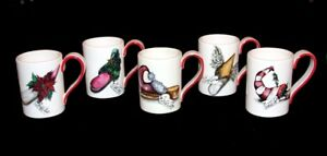 4-HOLIDAY-LANE-Elf-Fancy-Shoes-Mugs-Gold-Highlights-Different-Names-Mugs-NEW