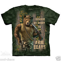 Reserve The Right To Arm Bears-funny Cool Bear, Hunter T-shirt
