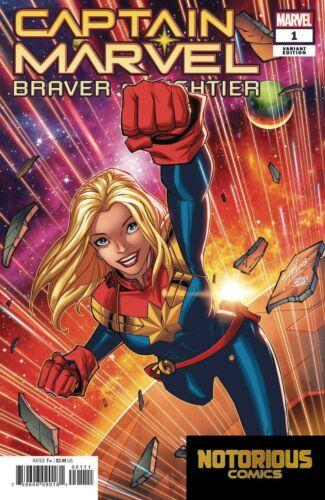 Captain Marvel Braver Mightier #1 Variant Marvel Comics 1st Print EXCELSIOR BIN