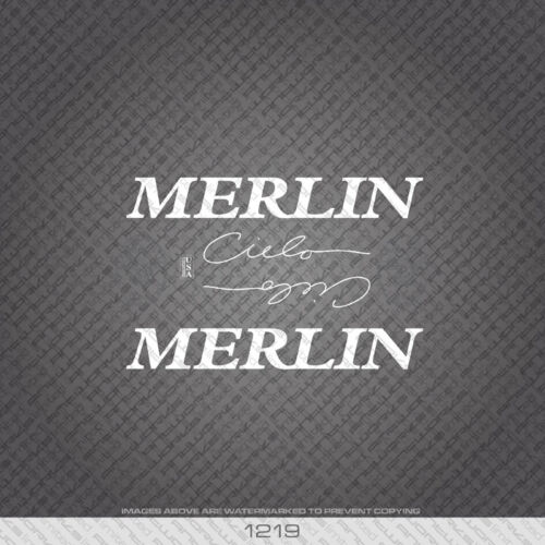 White 01219 Merlin Cielo Bicycle Stickers Transfers Decals