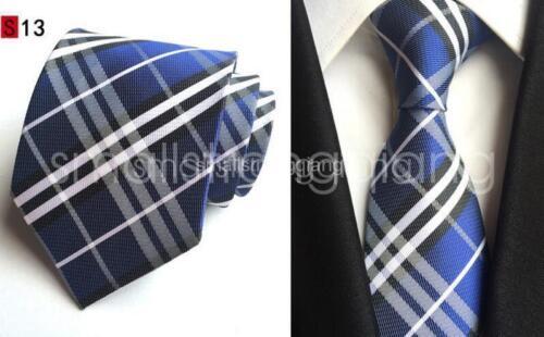 Classic Checks Mens JACQUARD WOVEN Silk Tie Necktie Wedding Party best man gift