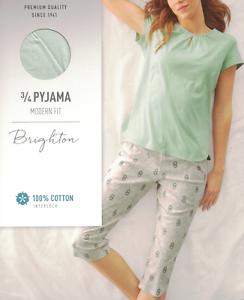 M L Pyjama 48628 Baumwolle Farbe 910 NEU S17 CALIDA 3//4 Damen Schlafanzug Gr