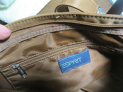 Damen Tasche Schultertasche ESPRIT Goldbraun verstellbarer Verschluss