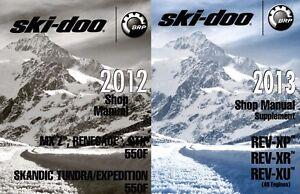 2012 2013 ski doo rev xp rev xu 550f snowmobile service manual ebay rh ebay com ski doo service manual 2015 ski doo service manual free download