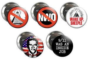 anti illuminati buttons nwo new world order conspiracy theory