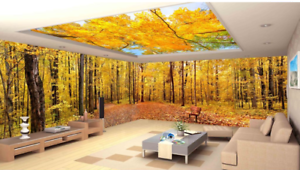 3D Herbst Park Bäume 82 Tapete Wandgemälde Tapete Tapeten Bild Familie DE Summer