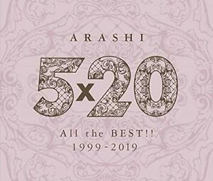 ARASHI-5X20-All-The-Best-1999-2019-4CD-Fre-From-japan