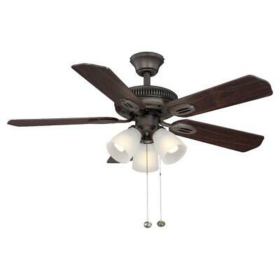 Hampton Bay Ceiling Fan w Light Kit RC Midili LED Indoor Gilded Espresso 44 in.