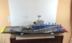 Decada-de-1980-Tim-Mee-Toy-Co-aviones-De-Juguete-De-Batalla-gigante-transportista-w-Figures-plano-de