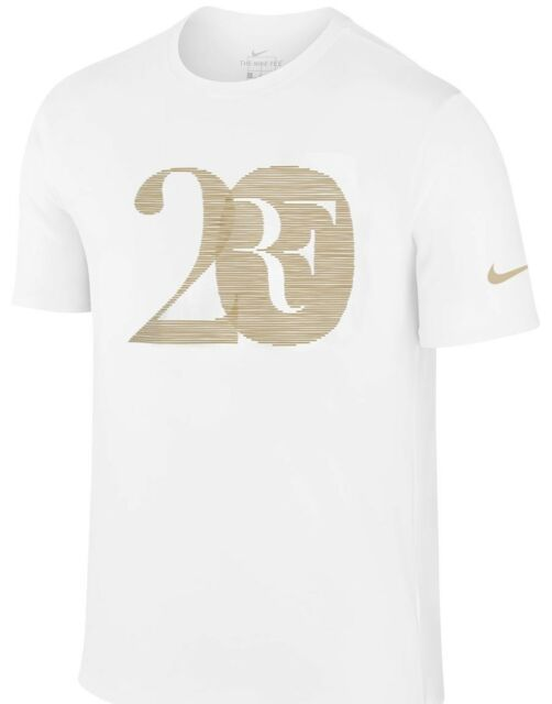 38b4fe19 NWT Nike Roger Federer RF 20 Grand Slam Shirt Med Large X-Large Authentic  Tennis