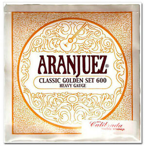 Aranjuez classical guitar strings Classic Golden set Heavy Gauge 600