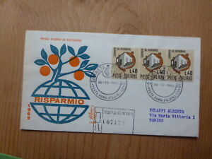 ITALY-1965-SAVINGS-DAY-3-STAMPS-REGISTERED-FDC