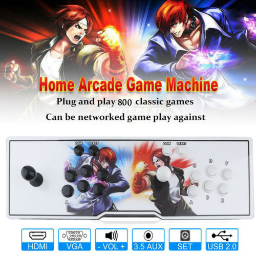 New 2019  Box 6S 800 Video Games in 1 Home Arcade Console Gamepad HDMI VIP