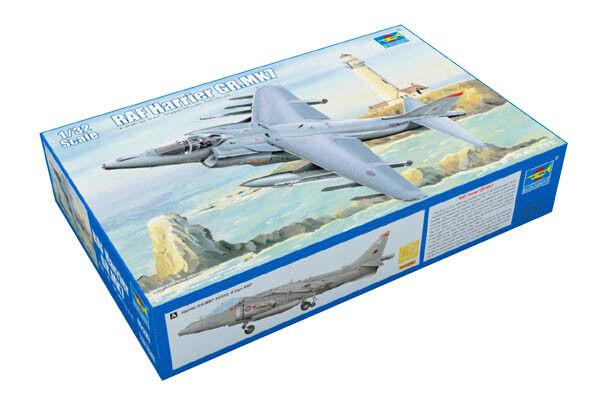 Trumpeter 9362287 McDonnell D. Harrier GR.7 1 32 Kampfflugzeug Modellbausatz  | Förderung
