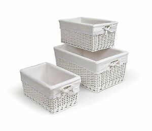 Image Is Loading Nursery Storage Organization Wicker Basket Set Baskets Changing