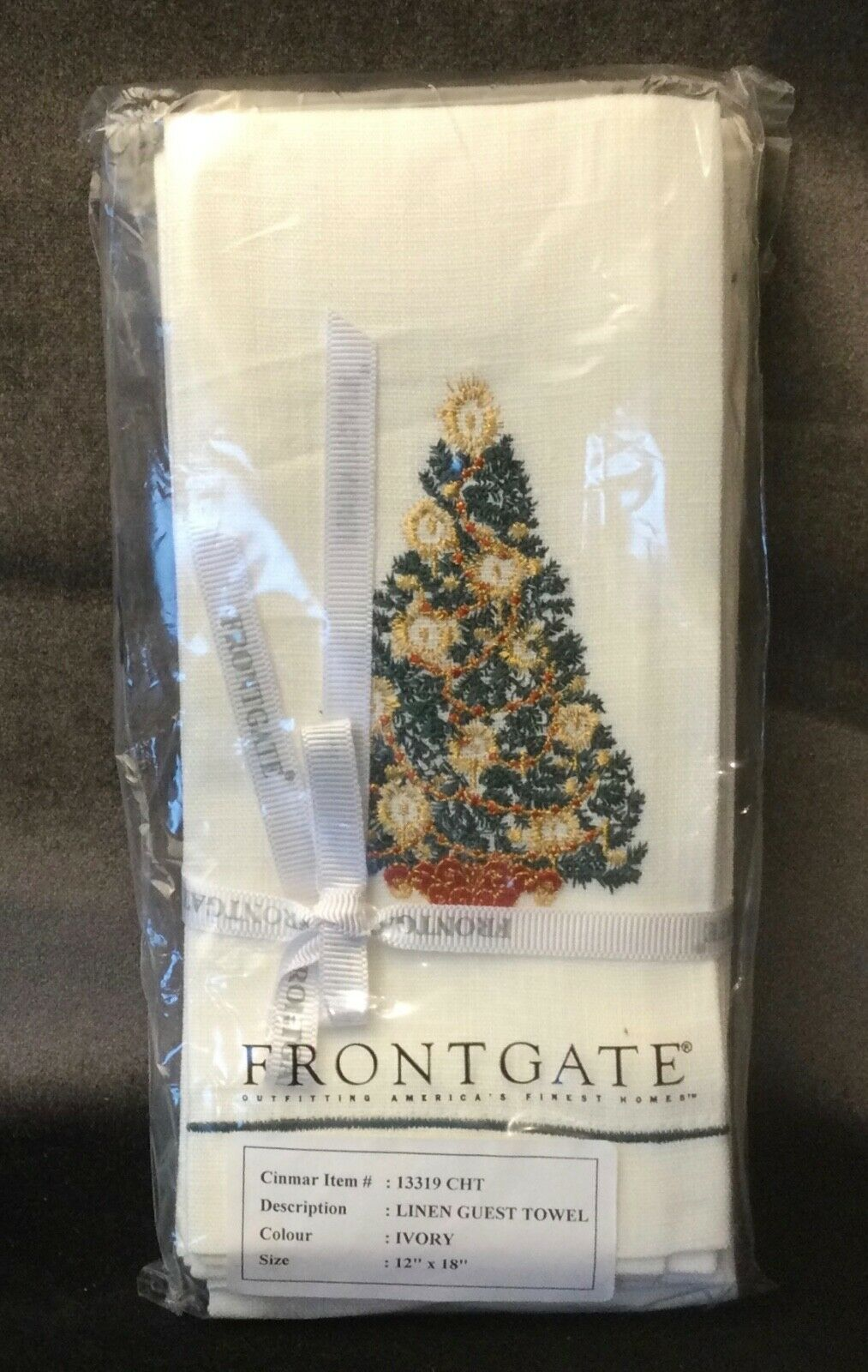 Set of 6 Frontgate Christmas Tree Guest Towels New In Package