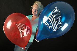 3-x-grosse-Tuftex-17-034-Luftballons-USA-FLAGGE-USA-FLAG-PATRIOTIC-AMERIKA