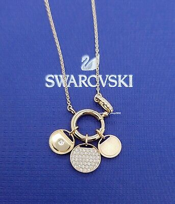 New Authentic SWAROVSKI Gold Ginger Lucky Charms Pendant Necklace 5567530 |  eBay