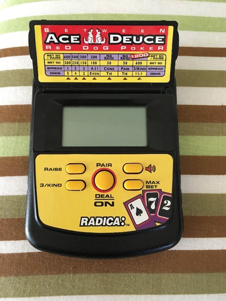 Radica Between Ace Deuce Red Dog Poker Handheld Electronic Game Model