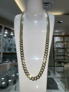 Brand New 10k Yellow Gold Miami Cuban Link Chain 30 inches 11.2 mm 47.5gr Canada Preview