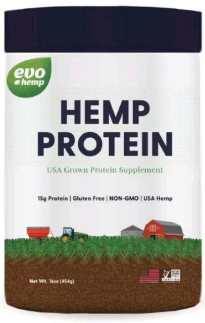 Evo Hemp Protein Powder, 15g Protein, 1.0 Lb