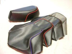 Honda-Spree-50-NQ50-034-SEAT-COVER-034-Red-Purple-Black-Piping