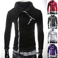 Fashion Men's Slim Collar Jackets - Sweatshirt Tops - Casual Coat Outerwear XS~L