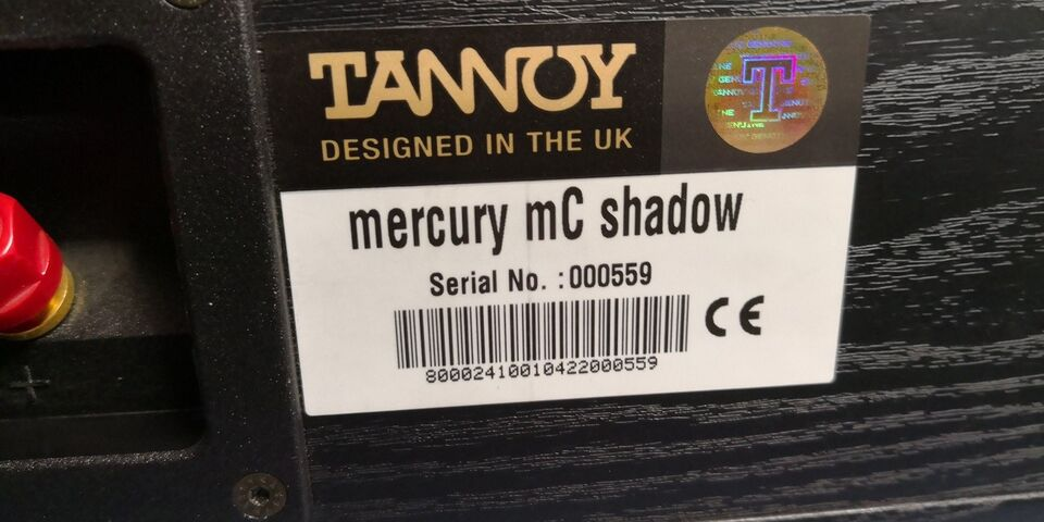 Højttaler, Tannoy, Mercury MC shadow