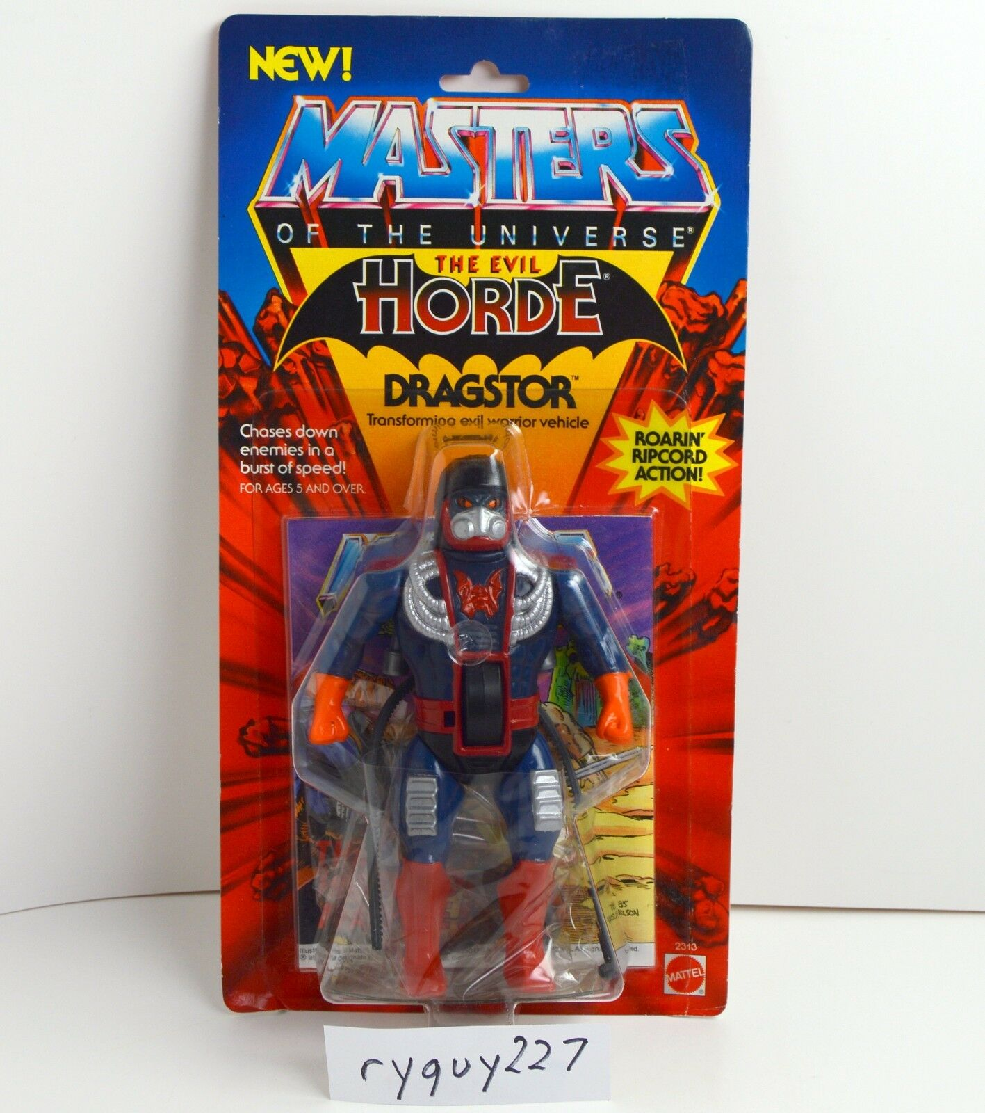 MOTU, Dragstor, Masters of the Universe, MOC, carded, figure, He Man, sealed