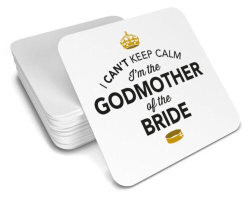 Godmother of the Bride Gift Wedding Day Present Coaster Keepsake Hen Night Do