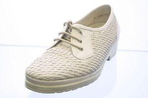 Ara-Schuhe-grau-Leder-Flechtoptik-Wechselfussbett-Gr-39-UK-6