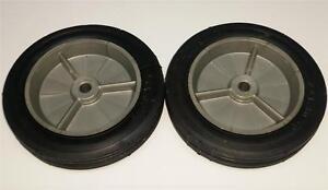 Gray-Plastic-7x1-50-Pedal-Tractor-Front-Wheels-w-Rubber-Tires-Case-IH-ERTL-Eska