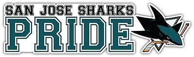 San Jose Sharks For Life NHL Sport Car Bumper Sticker Decal  /'/'SIZES/'/'