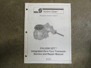 Details about Hydro Gear 310-2200 2200 EZT transaxle transmission service &  repair manual