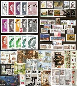 2012-FRANCE-Tous-les-TIMBRES-de-l-039-annee-NEUFS-LUXE-98-timbres-annee-complete
