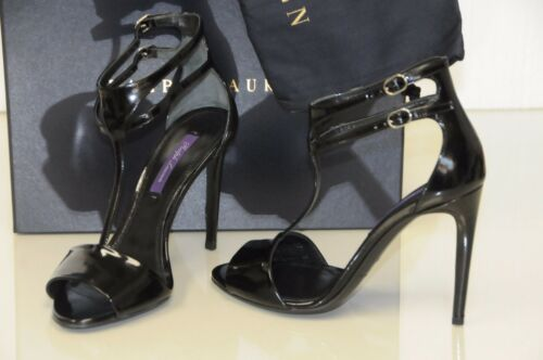 Talons Nouveau Sandales en noir cuir 37 Chaussures Blinira Ralph Lauren compensés Collection 37 zVGqSMUp