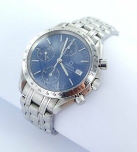 Omega-Speedmaster-Chronograph-Automatic-Men-039-s-Watch-Steel