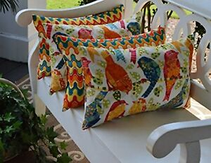 Set Of 4 Inoutdoor Decorative Rectangle Toss Pillows Universal 12
