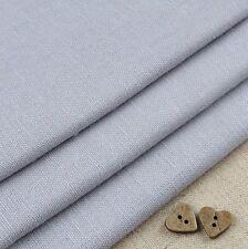Robert Kaufman Essex Silver Grey Linen Blend Fabric / quilting dressmaking a