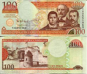 Image Is Loading Dominican Republic 100 Pesos Oro Banknote World Money