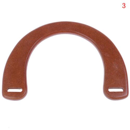 En bois résine Poignée De Remplacement À faire soi-même Sac A Main Cadre Sac Accessoires Outil HF