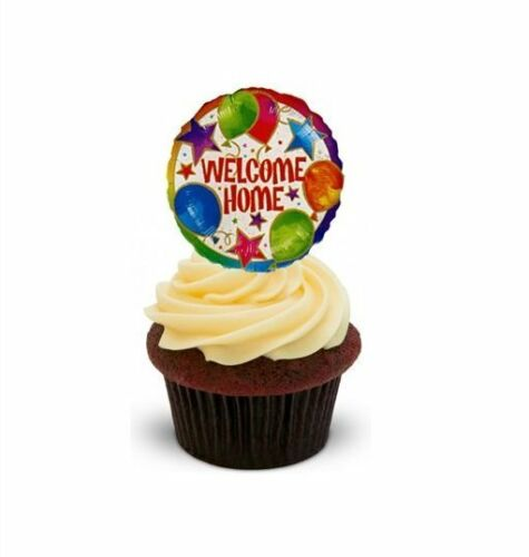 Standups 12 Edible Standup Premium Wafer Cake Toppers Welcome Home