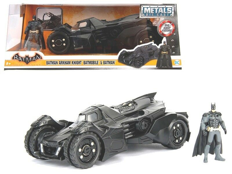 Arkham Knight Batmobile with Diecast Batman Figure 1 24 Diecast Model Car by Jad